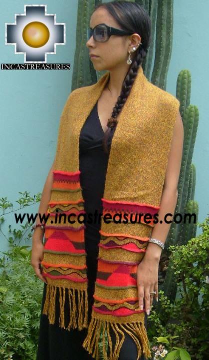 Alpaca Scarf with andenes antisuyo  - Product id: alpaca-scarf-07