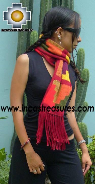 Alpaca Scarf with chakana cocona  - Product id: alpaca-scarf-06