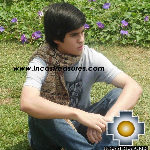 Alpaca Wool Scarf cobra  - Product id: alpaca-scarf-19