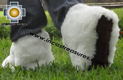 Baby Alpaca Slipper White Yeti - Product id: ALPACASLIPPERS13-01 Photo02