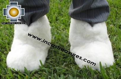Baby Alpaca Slipper White Yeti - Product id: ALPACASLIPPERS13-01 Photo04