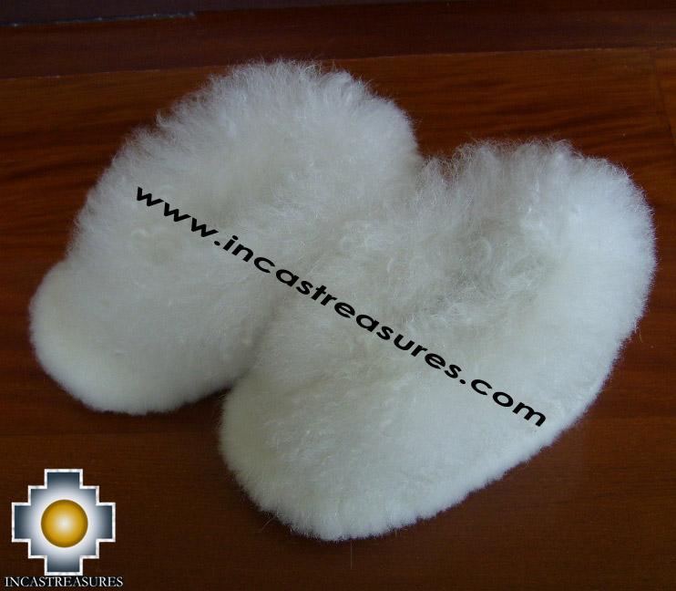 Baby Alpaca Slipper white Wawa - Product id: ALPACASLIPPERS09-03