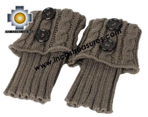 100% Alpaca Leg Warmers Knitted Cusco - 100% ALPACA