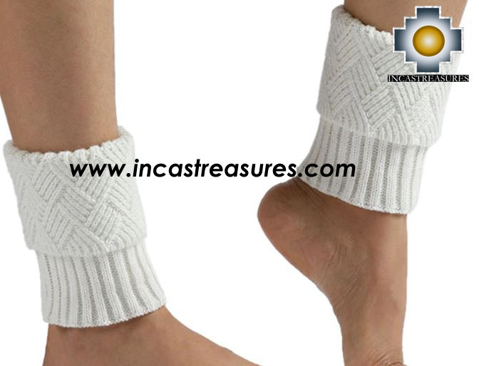 100% Alpaca Leg Warmers Knitted Imperial - 100% ALPACA