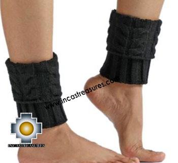 100% Alpaca Leg Warmers Knitted Roots - 100% ALPACA -