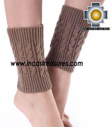 100% Alpaca Leg Warmers Knitted Wayra - 100% ALPACA