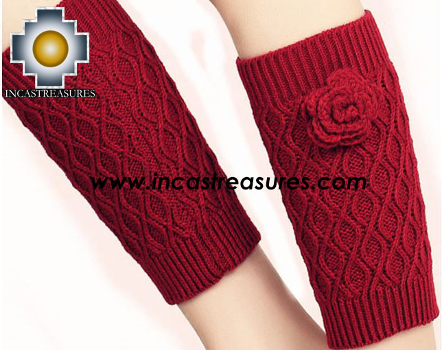 100% Alpaca Socks Knitted Flower - 100% ALPACA - alpacasocks19-01knitted-flower