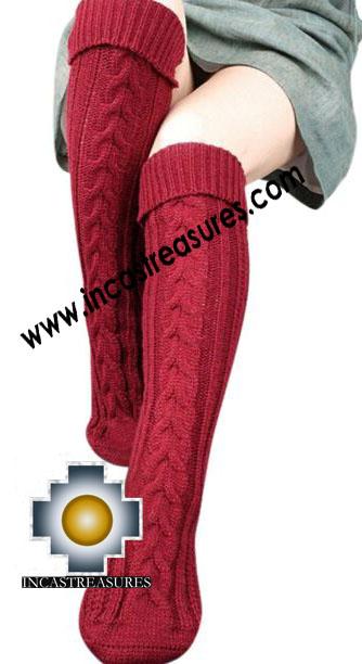 100% Alpaca Socks Knitted Pisac - 100% ALPACA