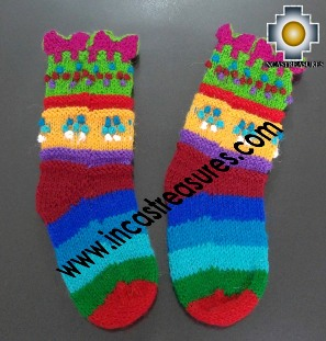 Children Alpaca Handmade Socks Chiri