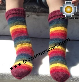 Children Alpaca Socks Rainbow - Product id: ALPACA-CHILDREN-SOCKS13-01 Photo01