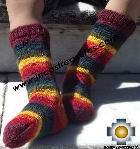 Children Alpaca Socks Rainbow - Product id: ALPACA-CHILDREN-SOCKS13-01 Photo03