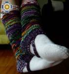 Alpaca Leg Warmers sunset - Product id: ALPACASOCKS09-10 Photo01