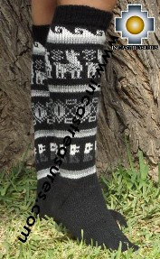 Long 100% Alpaca Socks Classic Black - Product id: ALPACASOCKS13-01 Photo03