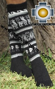 Long 100% Alpaca Socks Classic Black - Product id: ALPACASOCKS13-01 Photo02