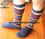 Long Alpaca Socks llamas blue - Product id: ALPACASOCKS12-02 Photo01