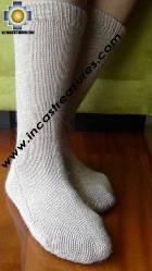 Long Alpaca Socks solid-color - Product id: ALPACASOCKS09-14 Photo06