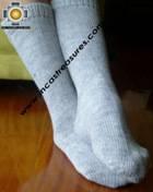 Long Alpaca Socks solid-color - Product id: ALPACASOCKS09-14 Photo01