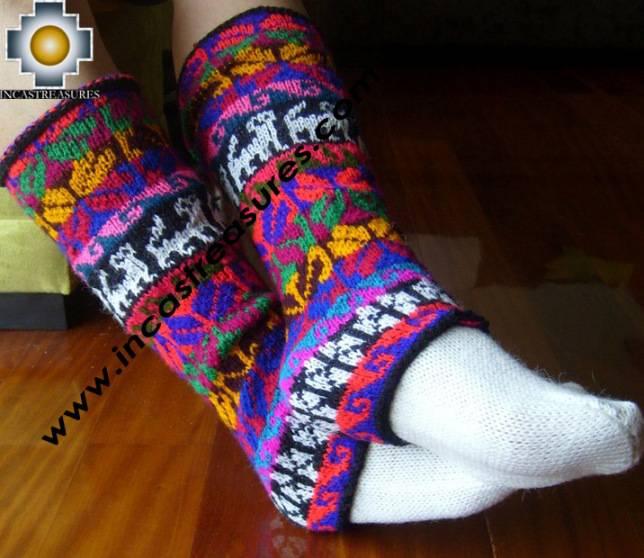 Alpaca Leg Warmers Huancavelica - Product id: ALPACASOCKS09-08