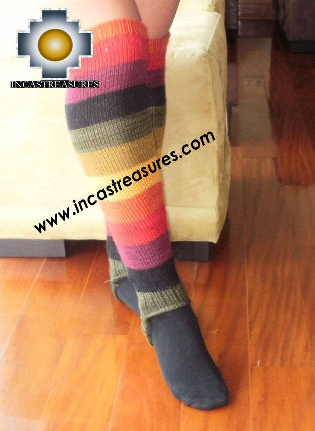 Long Alpaca Socks rainbow - Product id: ALPACASOCKS09-15