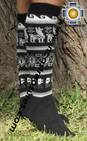 Long Alpaca Socks Classic Black - Product id: ALPACASOCKS13-01
