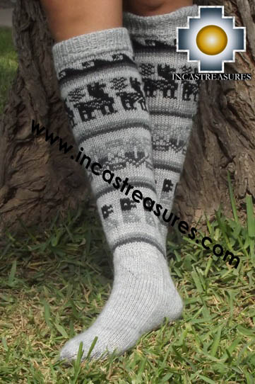 Long Alpaca Socks Classic gray - Product id: ALPACASOCKS13-03