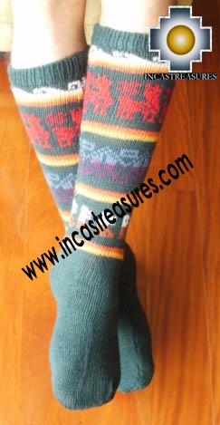 Long Alpaca Socks llamas Green,free shipping
