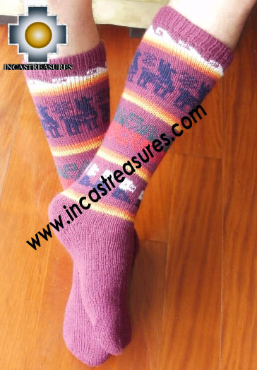 Long Alpaca Socks llamas Purple,free shipping