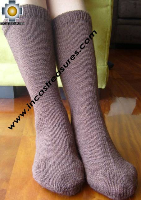 100% baby alpaca socks