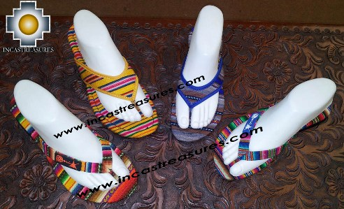 Assorted Bayeta Sandals from Inka Peru Fabric