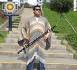 Alpaca Poncho extrafine mamaqucha UNISEX  - Product id: ALPACA-PONCHO12-02 Photo02
