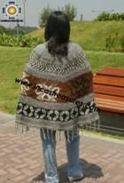 Alpaca Poncho short stripes UNISEX  - Product id: ALPACA-PONCHO12-01 Photo02