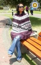 Alpaca Poncho short stripes UNISEX  - Product id: ALPACA-PONCHO09-08 Photo03