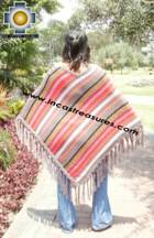 Alpaca Poncho long sumaq UNISEX  - Product id: alpaca-poncho09-12 Photo03