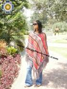 Alpaca Poncho long sumaq UNISEX  - Product id: alpaca-poncho09-12 Photo01