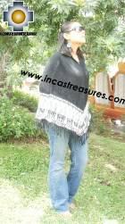 Alpaca Poncho rustic llamas UNISEX  - Product id: ALPACA-PONCHO09-15 Photo01
