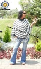 Alpaca Poncho short stripes2 UNISEX  - Product id: ALPACA-PONCHO09-06 Photo03