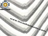 Alpaca Poncho short stripes2 UNISEX  - Product id: ALPACA-PONCHO09-06 Photo02