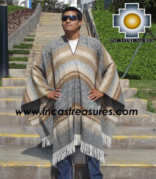 Alpaca Poncho extrafine mamaqucha UNISEX  - Product id: ALPACA-PONCHO12-02