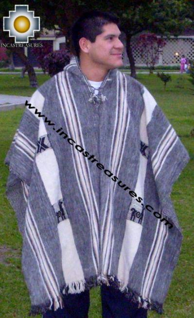 alpaca poncho hualhua llama with hood UNISEX