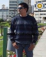 100% alpaca wool sweater for men Winter  - Product id: mens-alpaca-sweater12-03 Photo02