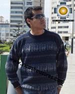 100% alpaca wool sweater for men Winter  - Product id: mens-alpaca-sweater12-03 Photo03