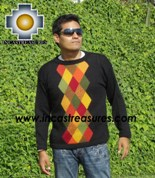 100% alpaca wool sweater for men COCO  - Product id: mens-alpaca-sweater12-01 Photo03