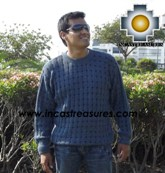 100% alpaca wool sweater for men dolphin  - Product id: mens-alpaca-sweater12-02 Photo03
