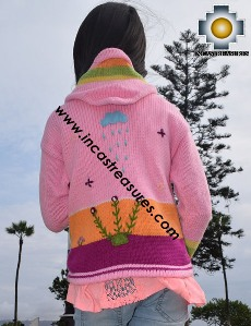 100% Alpaca Children Sweater with Hood sol  - Product id: children-sweater17-02 Photo03