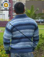 100% Alpaca Men Sweater Clouds- Product id: MENS-SWEATER09-02 Photo02