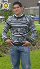 100% Alpaca Sweater juliaca  - Product id: MENS-SWEATER09-03 Photo03