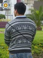 100% Alpaca Sweater juliaca  - Product id: MENS-SWEATER09-03 Photo02