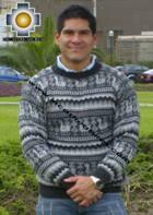 100% Alpaca Sweater juliaca  - Product id: MENS-SWEATER09-03 Photo01