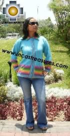 Women alpaca sweater anqa with zipper  - Product id: womens-alpaca-sweater11-02 Photo02