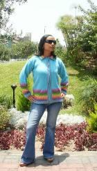 Women alpaca sweater anqa with zipper  - Product id: womens-alpaca-sweater11-02 Photo01